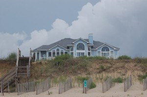 OBXtasy - view of house from the beach