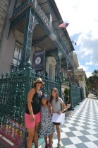 In front of the John Rutledge House Inn - getting ready to start our scavenger hunt.