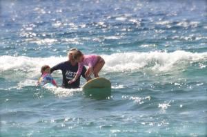 Nadia riding the wave!