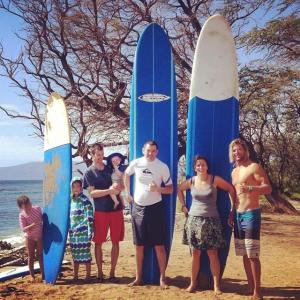 Gorohoff surfers and our instructor.